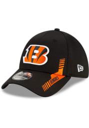 New Era Cincinnati Bengals Mens Black 2021 Sideline Home 39THIRTY Flex Hat