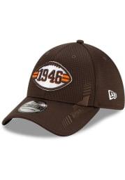 New Era Cleveland Browns Mens Brown 2021 Sideline Home 39THIRTY Flex Hat