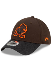 New Era Cleveland Browns Mens Brown 2021 Sideline Road 39THIRTY Flex Hat