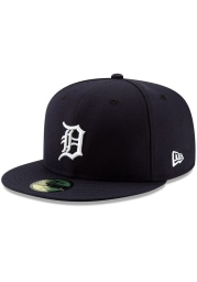 New Era Detroit Tigers Mens Navy Blue Home AC 59FIFTY Fitted Hat