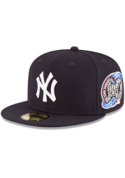 New Era New York Yankees Mens Navy Blue New York Yankees World Series Collection 59Fifty Fitted 2000 Subway Series Fitted Hat