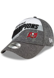 New Era Tampa Bay Buccaneers Conference Champs 9FORTY Adjustable Hat - Grey