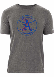 New Era Philadelphia Athletics Grey Baseball Short Sleeve T Shirt