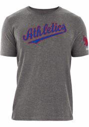 New Era Philadelphia Athletics Grey Tailsweep Short Sleeve T Shirt