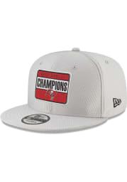 New Era Tampa Bay Buccaneers Grey Super Bowl LV Parade 9FIFTY Mens Snapback Hat