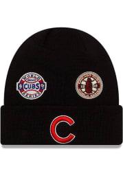 New Era Chicago Cubs Black 2021 Champion Knit Mens Knit Hat