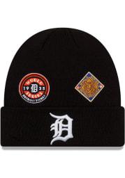New Era Detroit Tigers Black 2021 Champion Knit Mens Knit Hat