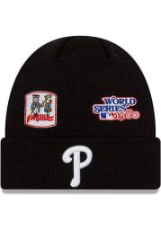 New Era Philadelphia Phillies Black 2021 Champion Knit Mens Knit Hat