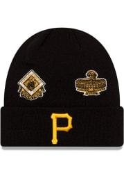 New Era Pittsburgh Pirates Black 2021 Champion Knit Mens Knit Hat