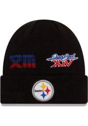New Era Pittsburgh Steelers Black 2021 Champion Knit Mens Knit Hat