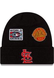 New Era St Louis Cardinals Black 2021 Champion Knit Mens Knit Hat