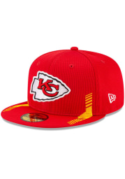 New Era Kansas City Chiefs Mens Red 2021 Sideline Home 59FIFTY Fitted Hat