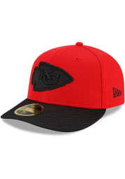New Era Kansas City Chiefs Mens Red 2021 Sideline Road LP59FIFTY Fitted Hat