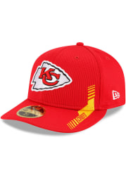 New Era Kansas City Chiefs Mens Red 2021 Sideline Home LP59FIFTY Fitted Hat