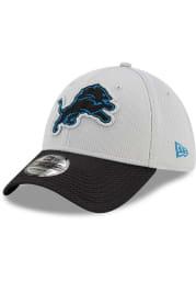 New Era Detroit Lions Mens Blue 2021 Sideline Road 39THIRTY Flex Hat