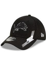 New Era Detroit Lions Mens Black 2021 Sideline Home 39THIRTY Flex Hat