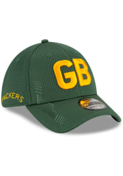 New Era Green Bay Packers Mens Navy Blue 2021 Sideline Home 39THIRTY Flex Hat