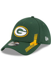 New Era Green Bay Packers Mens Green 2021 Sideline Home 39THIRTY Flex Hat