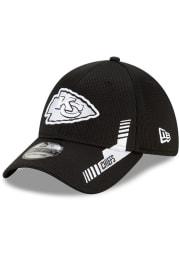 New Era Kansas City Chiefs Mens Black 2021 Sideline Home 39THIRTY Flex Hat