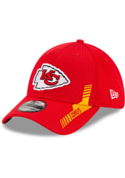 New Era Kansas City Chiefs Mens Red 2021 Sideline Home 39THIRTY Flex Hat