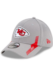 New Era Kansas City Chiefs Mens Grey 2021 Sideline Home 39THIRTY Flex Hat