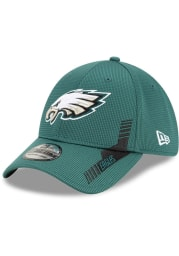 New Era Philadelphia Eagles Mens Green 2021 Sideline Home 39THIRTY Flex Hat