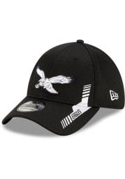 New Era Philadelphia Eagles Mens Black 2021 Sideline Home 39THIRTY Flex Hat