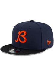 New Era Chicago Bears Navy Blue 2021 Sideline Road 9FIFTY Mens Snapback Hat