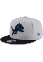 New Era Detroit Lions Blue 2021 Sideline Road 9FIFTY Mens Snapback Hat