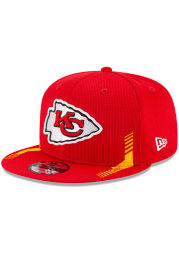 New Era Kansas City Chiefs Red 2021 Sideline Home 9FIFTY Mens Snapback Hat