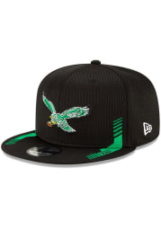 New Era Philadelphia Eagles Black 2021 Sideline Home 9FIFTY Mens Snapback Hat