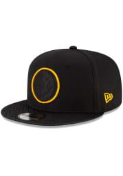 New Era Pittsburgh Steelers Black 2021 Sideline Road 9FIFTY Mens Snapback Hat