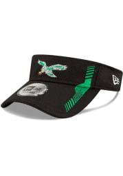 New Era Philadelphia Eagles Mens Black 2021 Sideline Home Adjustable Visor