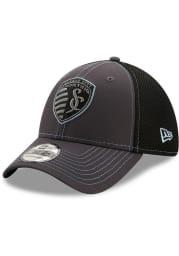 New Era Sporting Kansas City Mens Grey Team Neo 39THIRTY Flex Hat