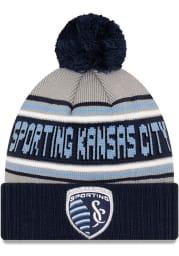 New Era Sporting Kansas City Navy Blue Cheer Mens Knit Hat