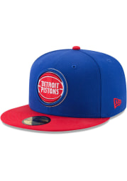 New Era Detroit Pistons Mens Blue 2T 59FIFTY Fitted Hat