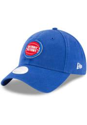 New Era Detroit Pistons Blue W Core Classic 9TWENTY Womens Adjustable Hat