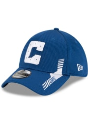 New Era Indianapolis Colts Mens Blue 2021 Sideline Home 39THIRTY Flex Hat