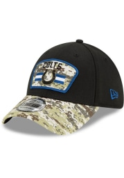 New Era Indianapolis Colts Mens Black 2021 Salute to Service 39THIRTY Flex Hat