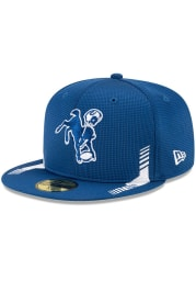 New Era Indianapolis Colts Mens Blue 2021 Sideline Home 59FIFTY Fitted Hat