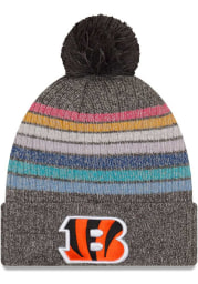 New Era Cincinnati Bengals Grey 2021 Crucial Catch W Knit Womens Knit Hat