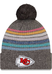 New Era Kansas City Chiefs Grey 2021 Crucial Catch W Knit Womens Knit Hat