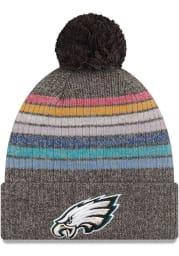 New Era Philadelphia Eagles Grey 2021 Crucial Catch W Knit Womens Knit Hat