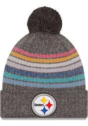 New Era Pittsburgh Steelers Grey 2021 Crucial Catch W Knit Womens Knit Hat
