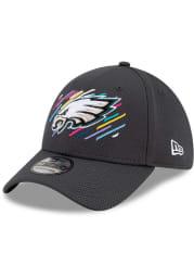New Era Philadelphia Eagles Mens Grey 2021 Crucial Catch 39THIRTY Flex Hat