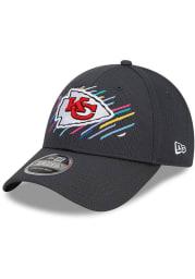 New Era Kansas City Chiefs 2021 Crucial Catch Stretch 9FORTY Adjustable Hat - Grey