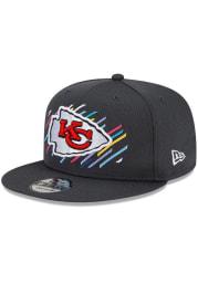 New Era Kansas City Chiefs Grey 2021 Crucial Catch 9FIFTY Mens Snapback Hat