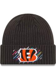 New Era Cincinnati Bengals Grey 2021 Crucial Catch Knit Mens Knit Hat