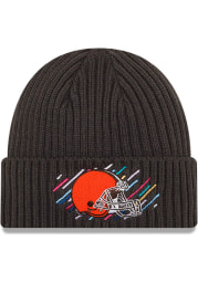 New Era Cleveland Browns Grey 2021 Crucial Catch Knit Mens Knit Hat