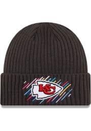 New Era Kansas City Chiefs Grey 2021 Crucial Catch Knit Mens Knit Hat